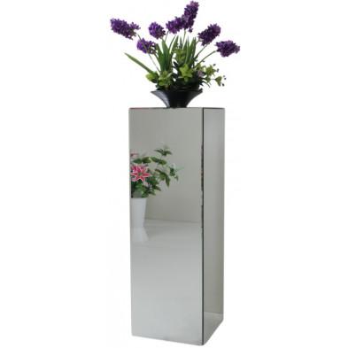 Table d'appoint design colonne en miroir clair L. 30 x P. 30 x H. 76 cm collection PALO