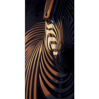 Tableau design en toile motif zèbre L. 75 x H. 150 cm collection Marwin