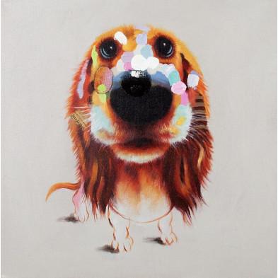 Tableau moderne en toile motif chien 80 cm collection Enright