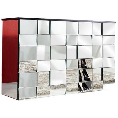 Console design en verre transparent L. 130 x H. 82 cm collection Jay