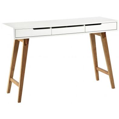 Anneke console design en bois massif L. 40 x H. 75 cm collection Porcigatone