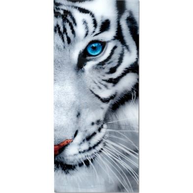 Tableau moderne en verre trempé tigre blanc L. 70 x H. 160 cm collection Pedmore
