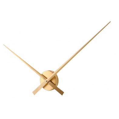 Horloge murale design en aluminium Ø 80 cm coloris doré collection Forbach