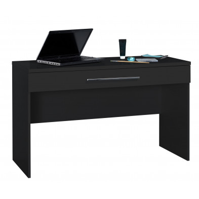 Bureau noir design L. 120 x P. 50 x H. 75 cm collection Oakes