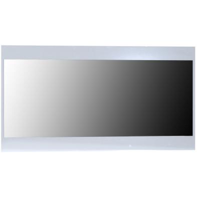 Miroir de salle à manger blanc design en panneaux de particules de haute qualité L. 110 x P. 2 x H. 59 cm collection Oakes