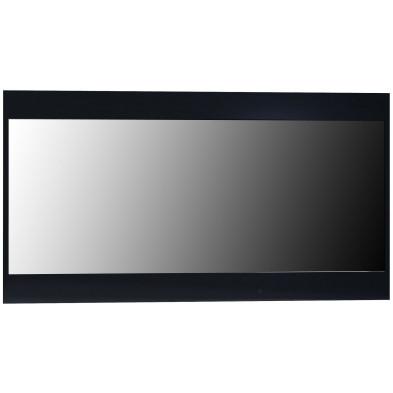 Miroir de salle à manger noir design en panneaux de particules de haute qualité L. 110 x P. 2 x H. 59 cm collection Oakes