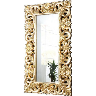 Grand Miroir mural design Antique coloris doré 180 cm collection Lesabymes