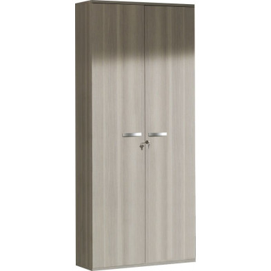 Armoire  de rangement gris contemporain  L. 90 x P. 42 x H. 221 cm collection Bioul