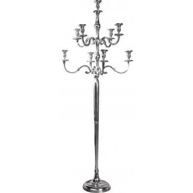 Chandelier baroque de 180 cm argenté à 9 branches collection Zoya .