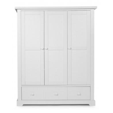 Armoire pour bébé rustique blanc en bois MDF et panneaux de particules de haute qualité L. 154 x P. 54 x H. 185 cm Collection Ermenegildo