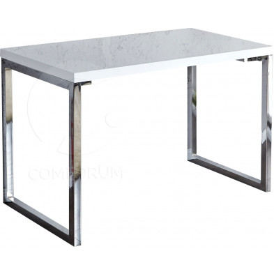 Bureau Design rectangle blanc laqué 120x75cm collection Langlingen