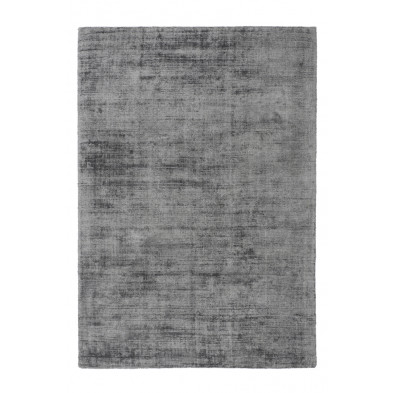 Tapis design argenté en viscose avec des motifs uni L. 150 x P. 80 x H. 0,9 cm Collection Jacintha