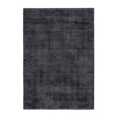 Tapis design gris en viscose avec des motifs uni L. 170 x P. 120 x H. 0,9 cm Collection  Jacintha