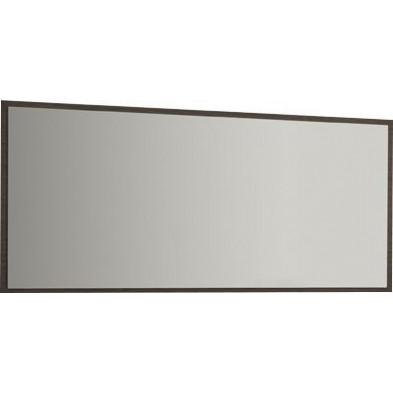 Miroir mural marron contemporain L. 112.7 x P. 3.8 x H. 57 cm collection Hicran