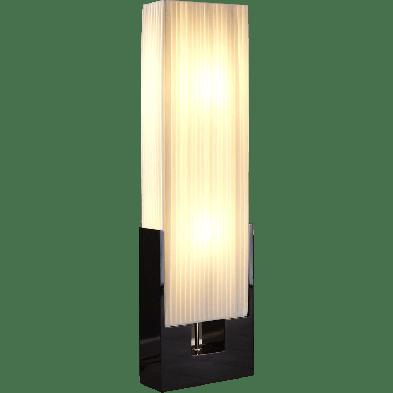 Lampadaire colonne rectangulaire design coloris blanc L. 30 x P. 15 x H. 120 cm collection Onno