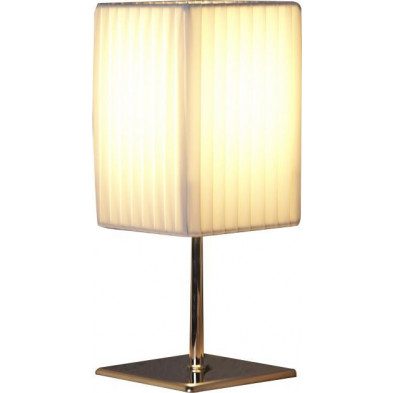 Lampe à poser blanc design L. 10 x P. 10 x H. 25 cm collection Piers