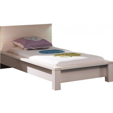Lit enfant en 90 x 200 cm beige contemporain collection Ashriss