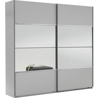 Armoire porte coulissante blanc design L. 225 x P. 65 x H. 210 cm collection Cefnypant
