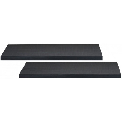 Lot de 2 étagères murales coloris gris anthracite L. 100 x P. 22 x H. 5 cm collection Strike