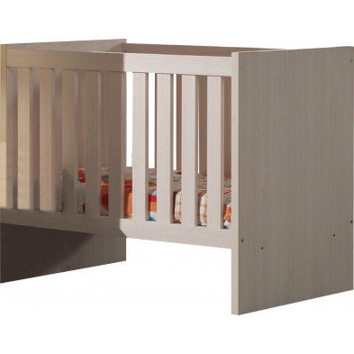 Lit bébé beige contemporain  L. 129 x P. 67 x H. 96 cm collection Ashriss