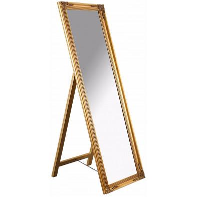 Grand miroir psyché en bois style classique coloris doré L. 45 x P. 3 x H. 160 cm collection Greenbay
