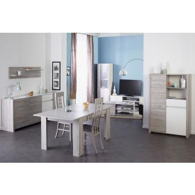 Salle à manger complète contemporaine en gris Collection Janey