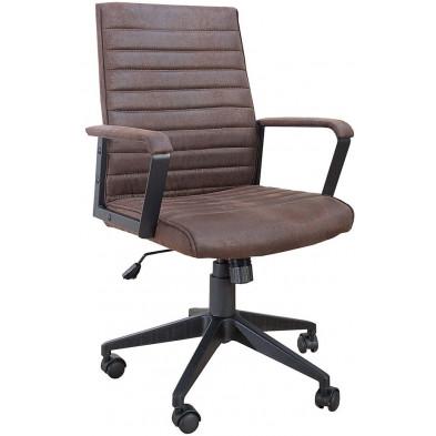 Chaise de bureau en tissu coloris brun L. 60 x P. 110 x H. 100 cm collection Yesim