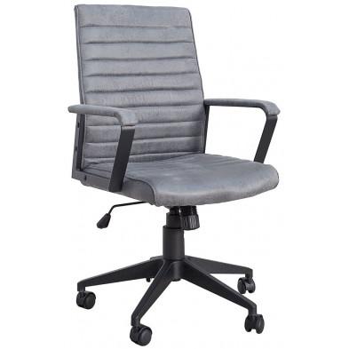 Chaise de bureau en tissu coloris gris L. 60 x H. 100 cm collection Yesim