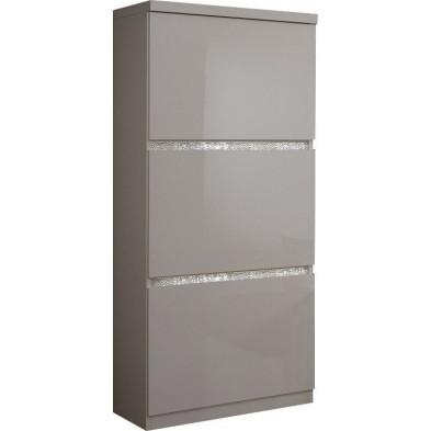Argentier - meuble bar blanc design en panneaux de particules de haute qualité L. 65 x P. 40 x H. 154 cm collection Mailbox