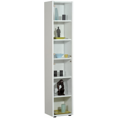 Vitrine blanc design L. 40 x P. 36 x H. 203 cm collection Vandenboom