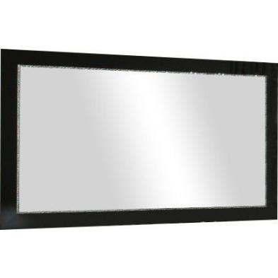 Miroir mural noir design en panneaux de particules de haute qualité L. 189 x H. 85 cm  collection Ottawa