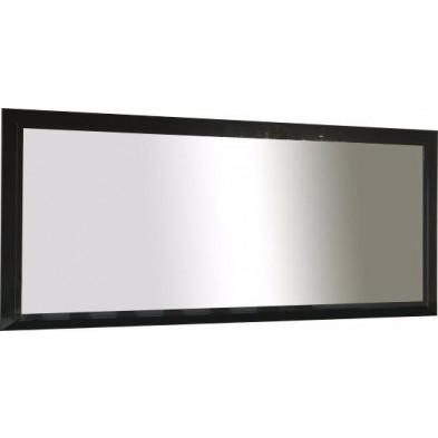 Miroir mural noir design en panneaux de particules de haute qualité L. 140 x P. 2 x H. 85 cm collection Jorna
