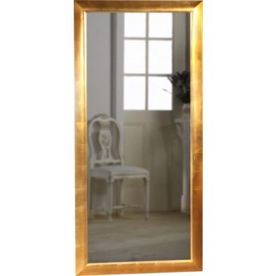 Miroir mural design coloris doré  L. 90 x H. 190 cm collection Behave