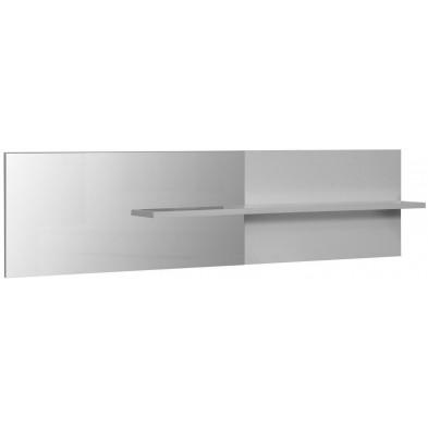 Miroir de salle à manger blanc design en panneaux de particules de haute qualité L. 199 x P. 24 x H. 51 cm collection Mcnally