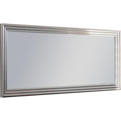 Miroir mural gris design L. 145 x H. 85 cm collection Regen