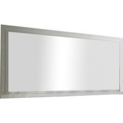 Miroir mural blanc design L. 179 x H. 85 cm collection Portland