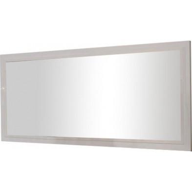 Miroir mural blanc design en panneaux de particules de haute qualité L. 140 x P. 2 x H. 85 cm collection Join