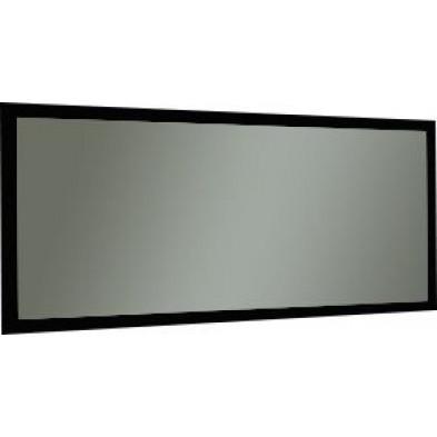 Miroir mural noir design en panneaux de particules de haute qualité L. 180 x H. 82 cm collection Roxana