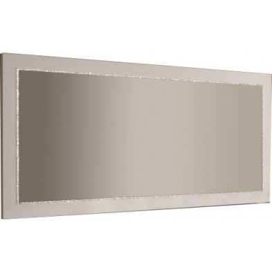 Miroir mural blanc design L. 189 x H. 85 cm collection Vanzoeren