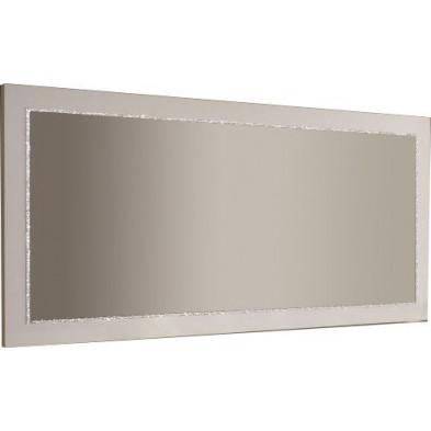 Miroir mural blanc design L. 145 x H. 85 cm collection Vanzoeren