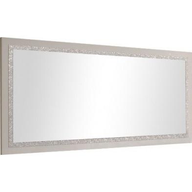 Miroir mural blanc design en panneaux de particules de haute qualité L. 189 x H. 85 cm collection Mailbox