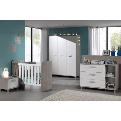Chambre bébé complète beige moderne en  panneaux de particules collection Chaul