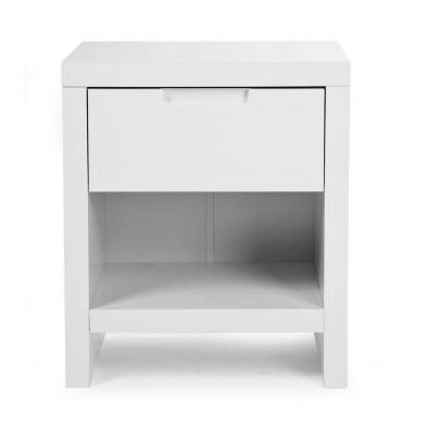 Chevet enfant design blanc en bois MDF L. 50 x P. 40 x H. 58 cm Collection Thomasburg