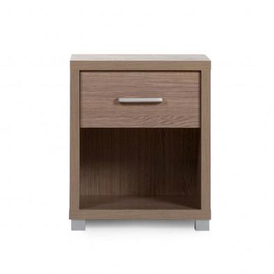 Chevet enfant design marron en bois MDF et panneaux de particules L. 40 x P. 50 x H. 60 cm Collection Inga