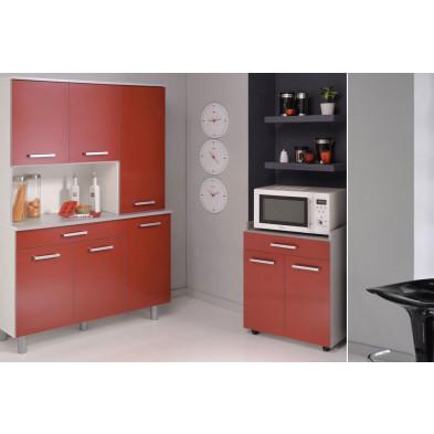 Cuisine équipée moderne coloris rouge en panneaux de particules de haute qualité Collection Blackpool
