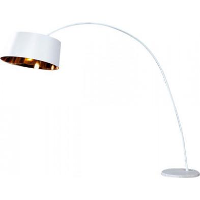 Lampadaire design en plastique 200 cm coloris blanc collection Leisnig