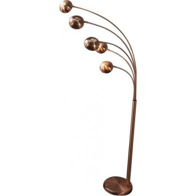 Lampadaire design en métal coloris cuivré L. 150 x H. 205 cm collection Braspenning