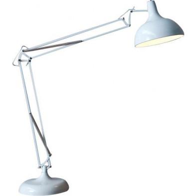 Lampadaire design 180 cm en métal coloris blanc collection Talley