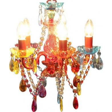 Lustre design en acrylique multicouleur collection Swanbach