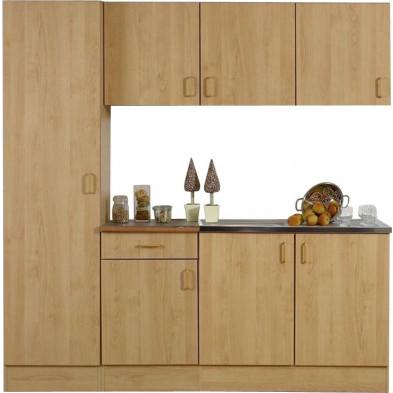 Packs complets marron moderne en panneaux de particules  L. 200 x P. 50 x H. 200 cm  collection Llangain